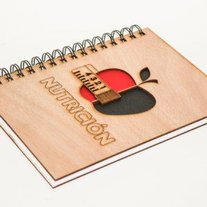 cuaderno personalizado y grabado con láser modelo 006
