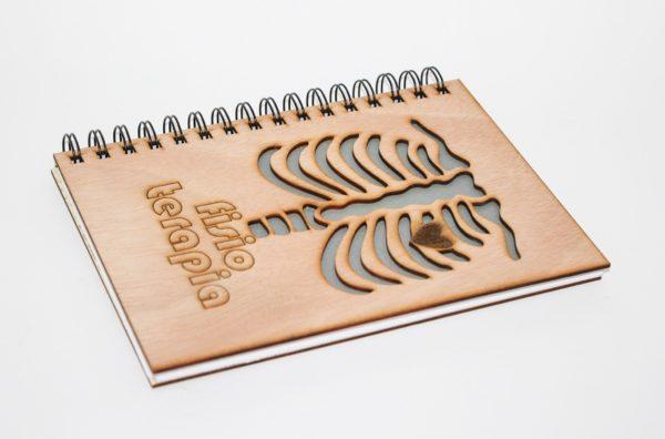 cuaderno personalizado y grabado con láser modelo 007