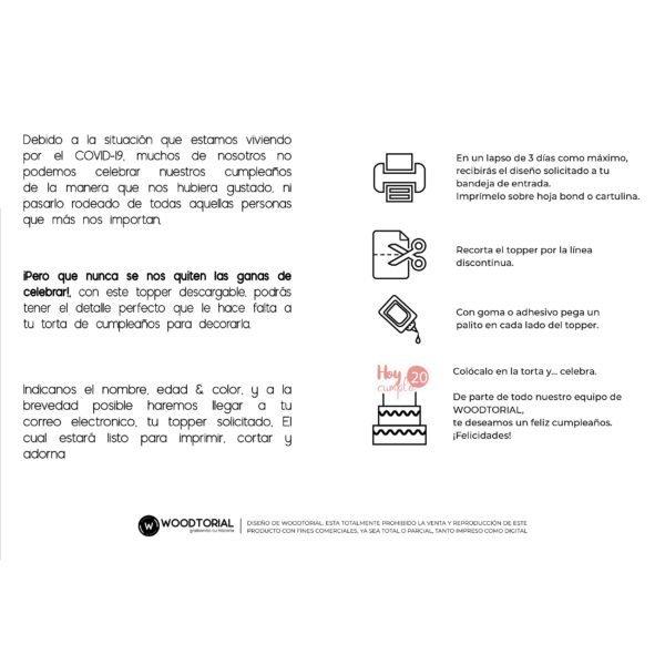 Imprimible topper indicaciones FREE