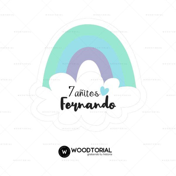 Topper personalizable con la frase Fernando 7 añitos