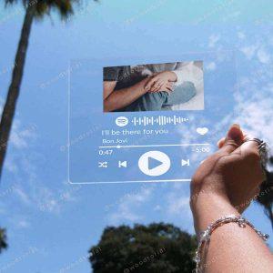 Placa de acrílico con código spotify grabado a láser para regalo