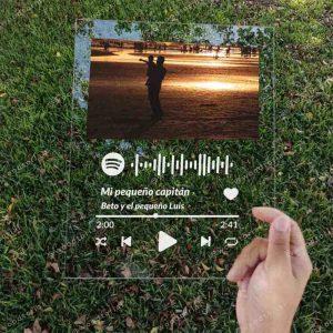 Placa Spotify de acrílico grabada con láser para el día del padre