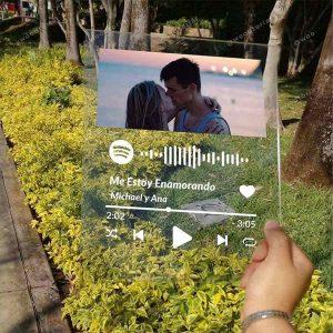 Placa personalizada de acrílico con el código QR de Spotify
