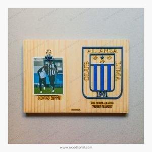 Cuadro con escudo del club deportivo Alianza Lima personalizado con grabado laser